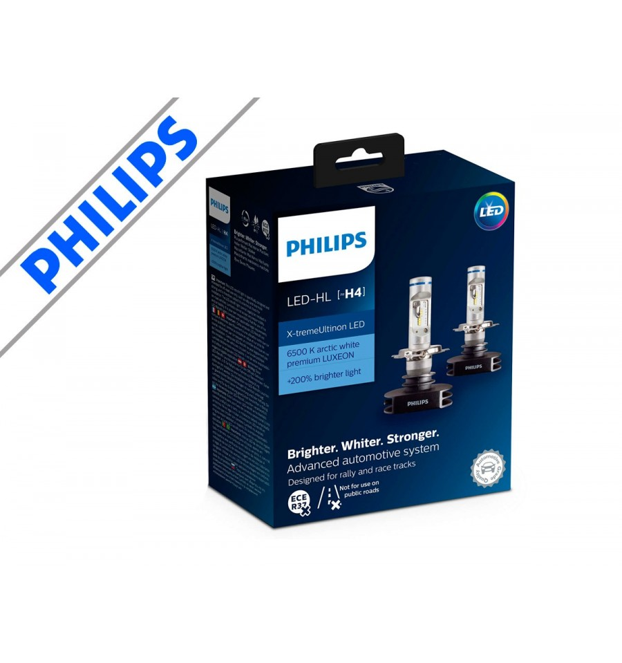 philips h4 led x treme ultinon p rer 2 pak. Black Bedroom Furniture Sets. Home Design Ideas