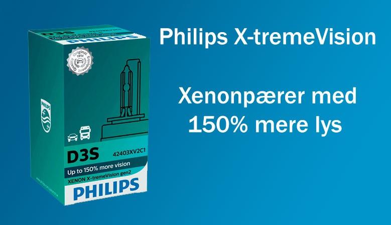 Philips X-tremeVision +150% Xenonpærer