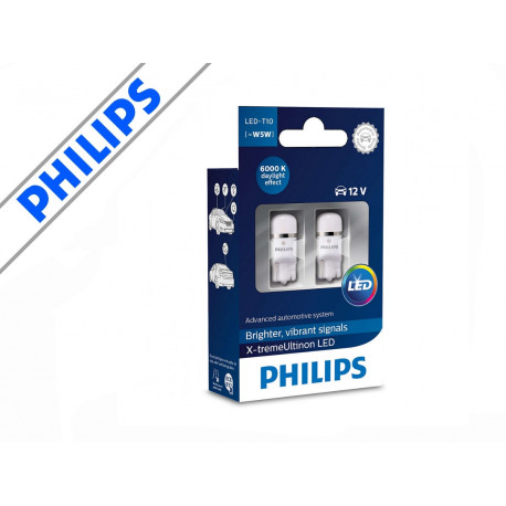 Philips X-treme Ultinon LED 6000K W5W / T10 (2-pak)